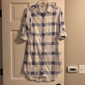 Michael Kors Plaid Shirt Dress